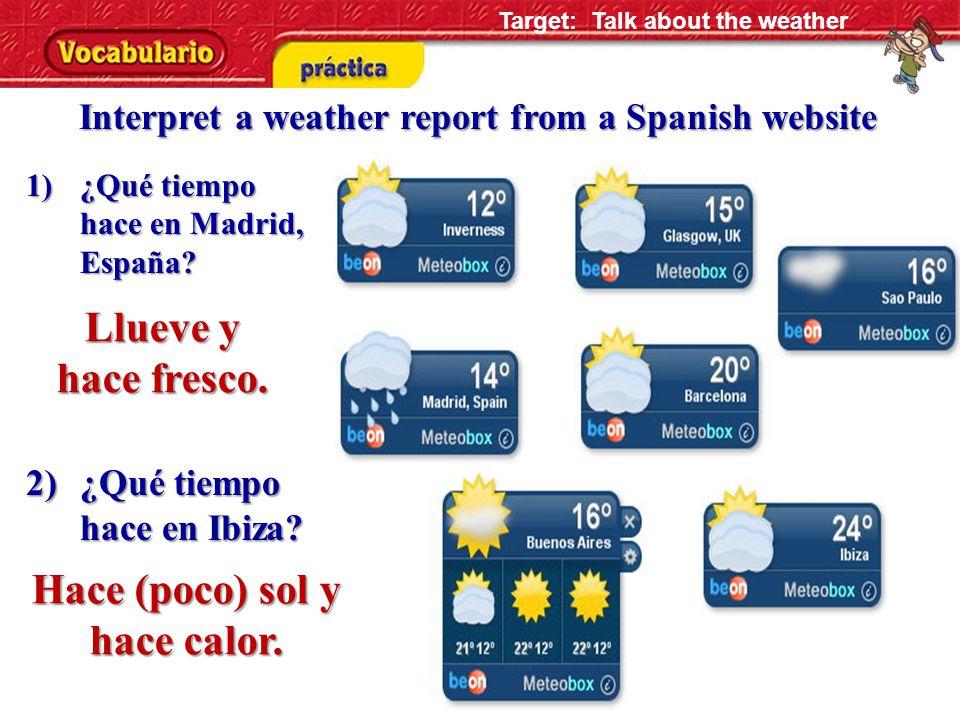 a. b. c.d. 1.2.3.4.5.6. 1) Hace calor. DBCCAD 2) Llueve.