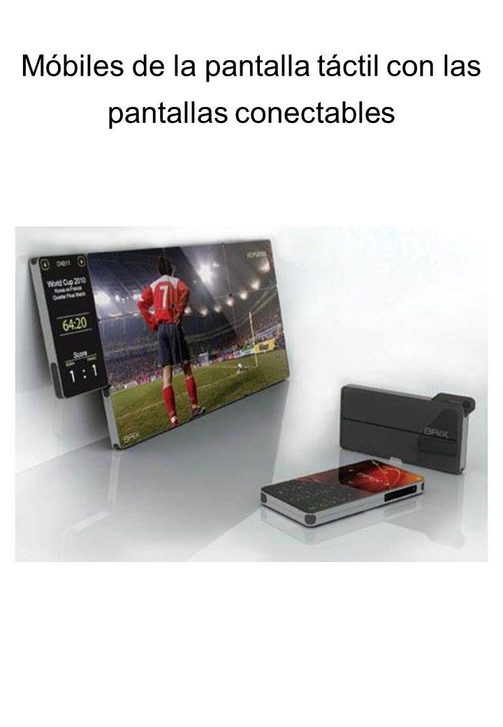 Móbiles de la pantalla táctil con las pantallas conectables