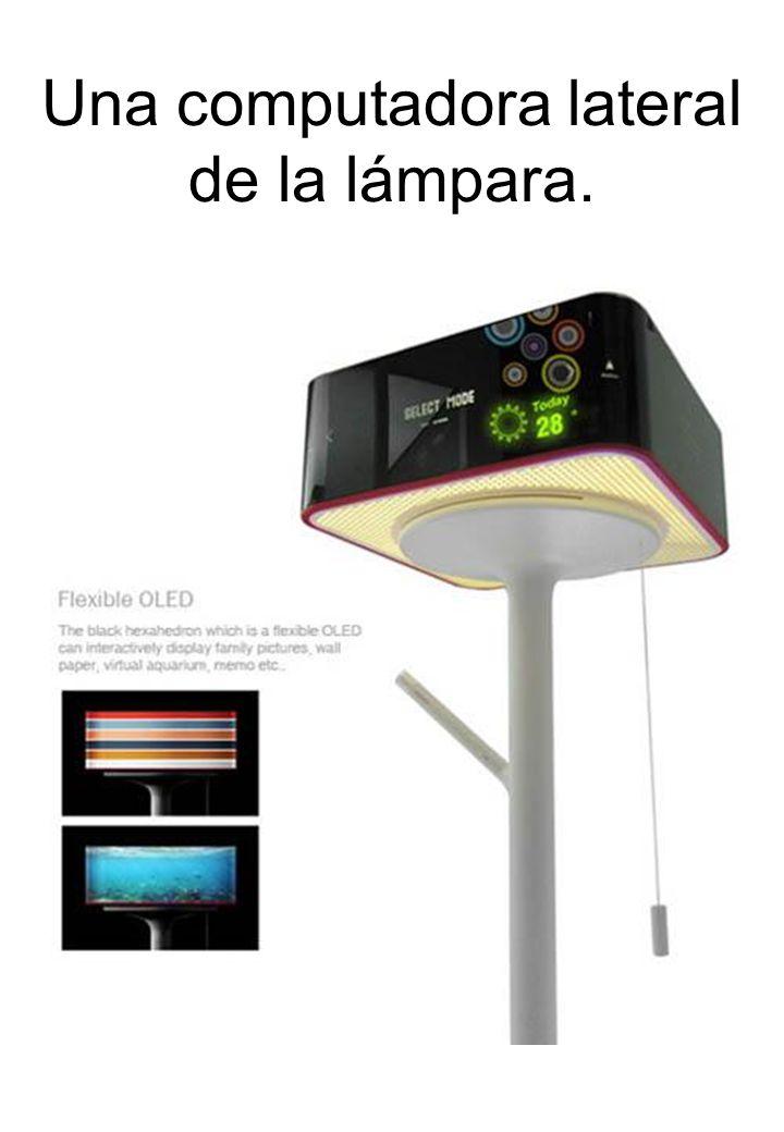 Una computadora lateral de la lámpara.