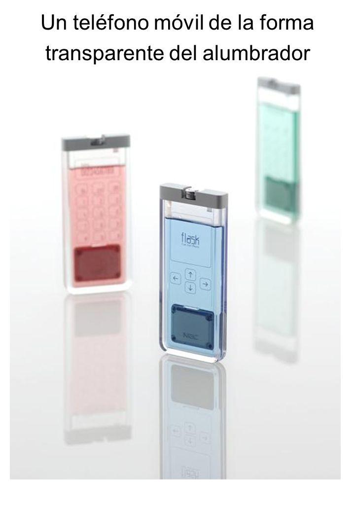 Un teléfono móvil de la forma transparente del alumbrador