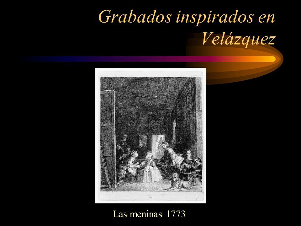 Grabados inspirados en Velázquez Las meninas 1773