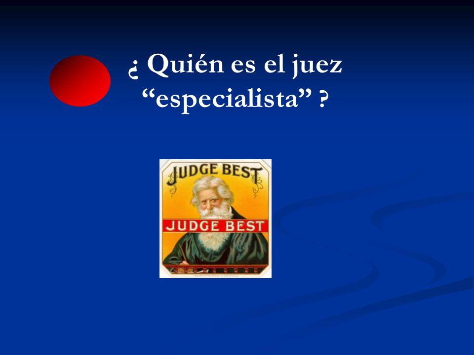 ¿ Quién es el juez especialista