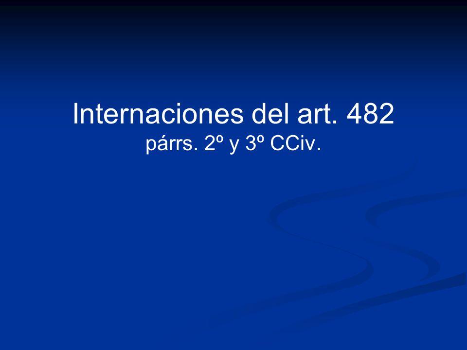 Internaciones del art. 482 párrs. 2º y 3º CCiv.