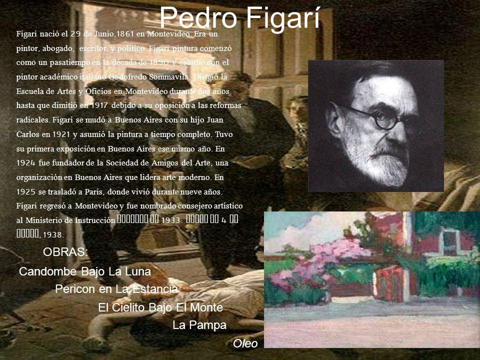 Pedro Figarí Figari nació el 29 de Junio,1861 en Montevideo.