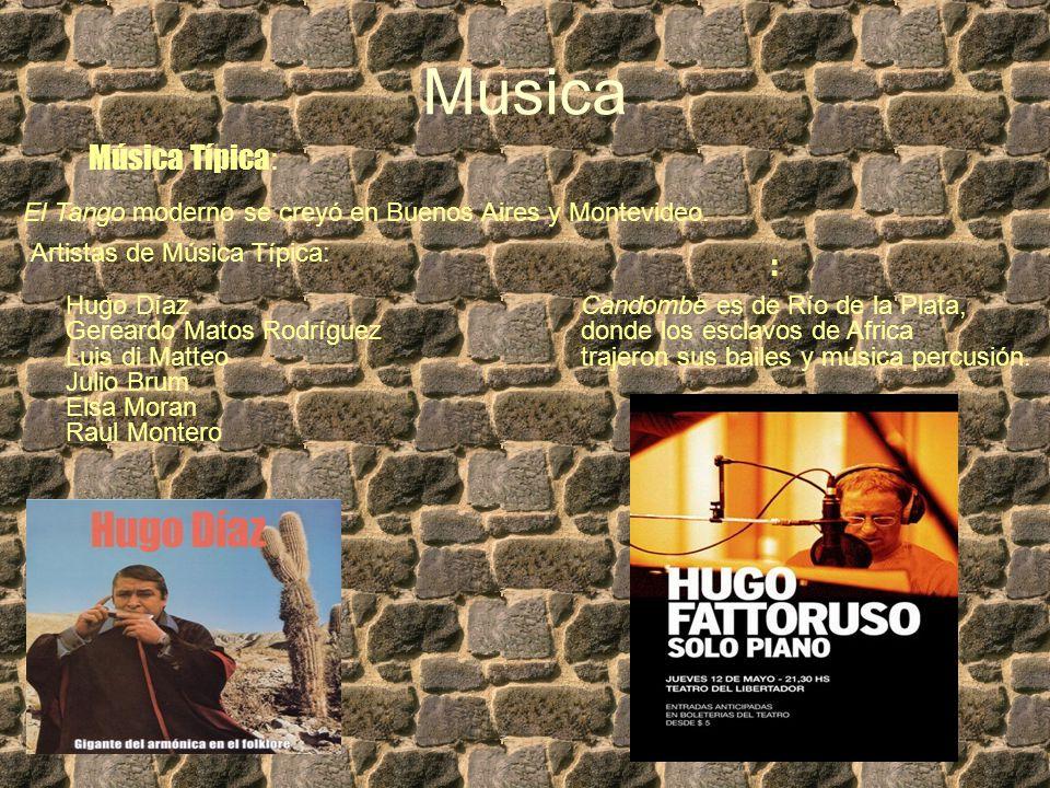 Musica Música Típica : El Tango moderno se creyó en Buenos Aires y Montevideo.