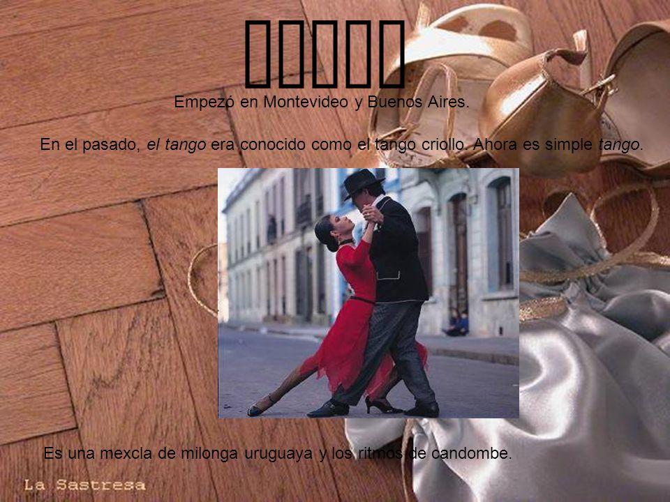 Baile En el pasado, el tango era conocido como el tango criollo.