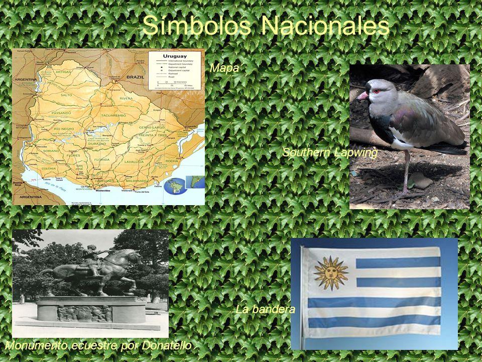 Símbolos Nacionales Monumento ecuestre por Donatello Mapa Southern Lapwing La bandera