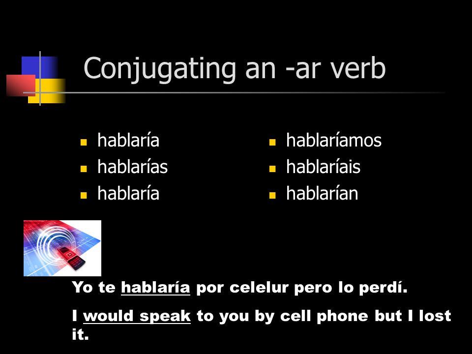 Conjugation íaíamos íasíais íaían Infinitive +