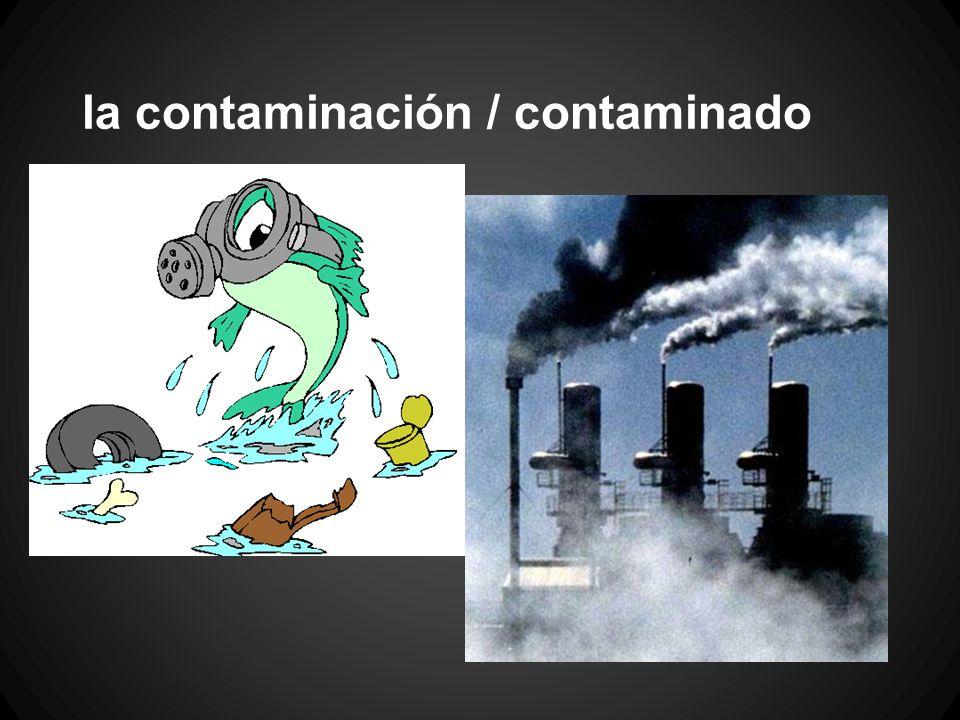 la contaminación / contaminado