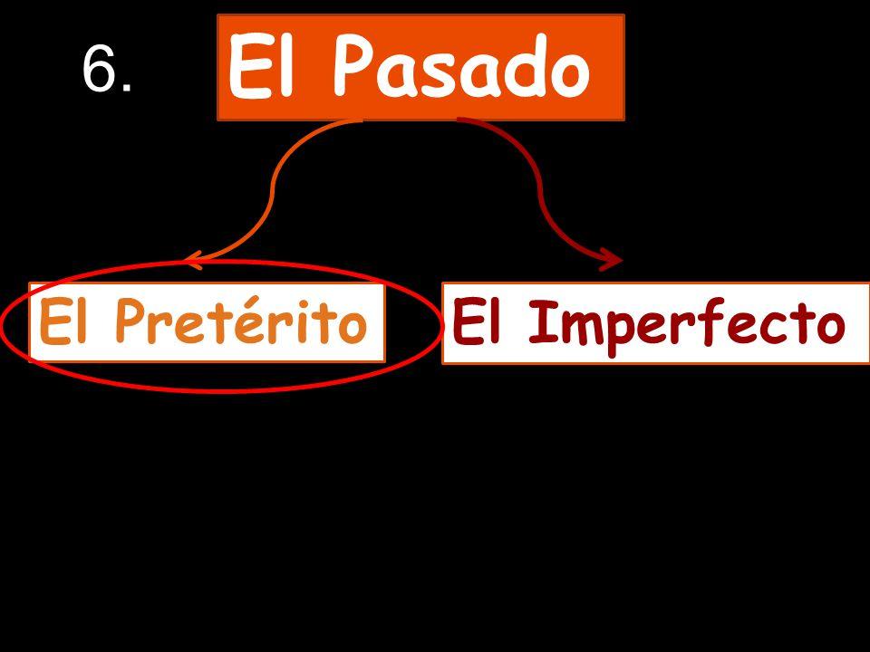 El Pasado El PretéritoEl Imperfecto 6.