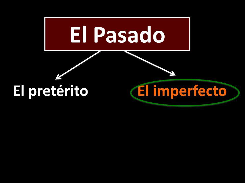 El Pasado El pretéritoEl imperfecto