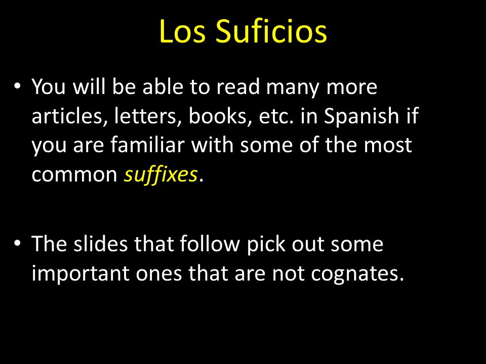 Los Suficios You will be able to read many more articles, letters, books, etc.
