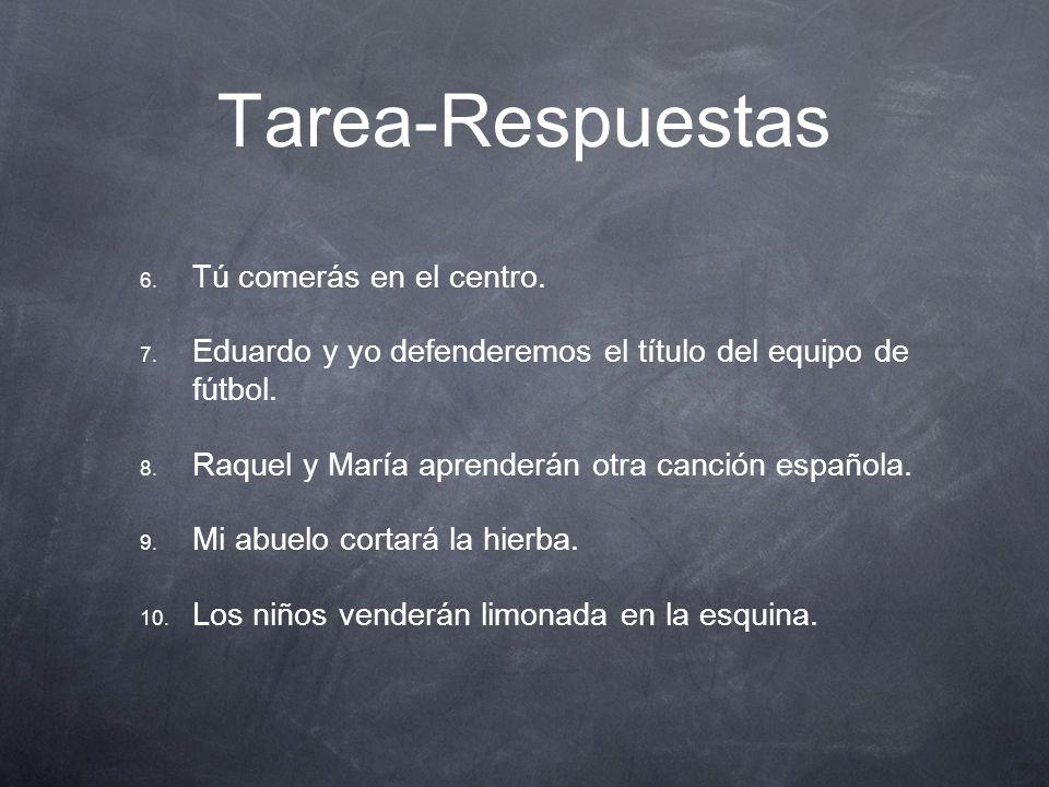 Tarea-Respuestas Ejercicio A 1. Pedro trabajará en el taller.