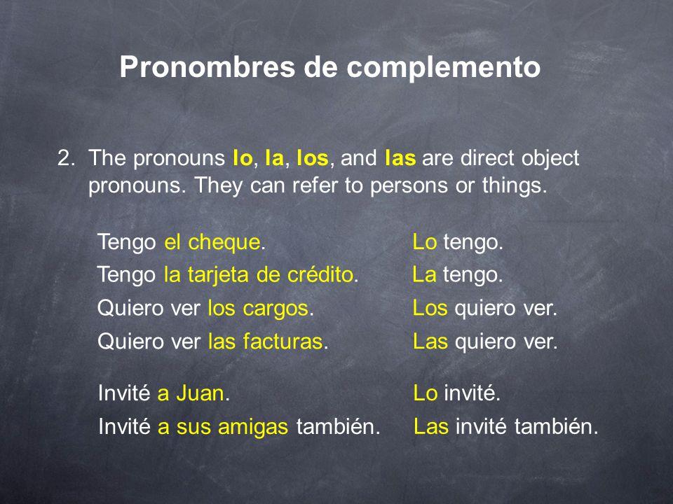 Pronombres de complemento 1.