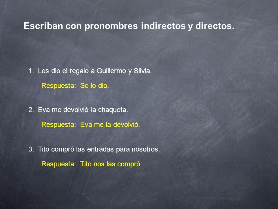 Pronombres de complemento 2.