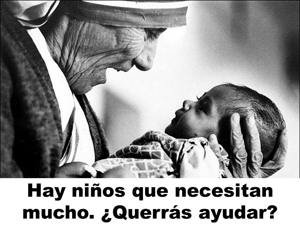Santa Teresa de Calcuta sí sabe compartir. ektorn@hotmail.com