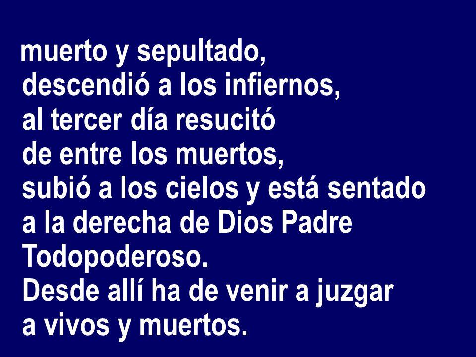 Creo en Dios PADRE todopoderoso, creador del cielo y de la tierra.