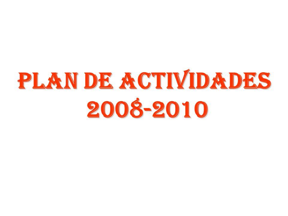 PLAN DE ACTIVIDADES 2008-2010 2008-2010