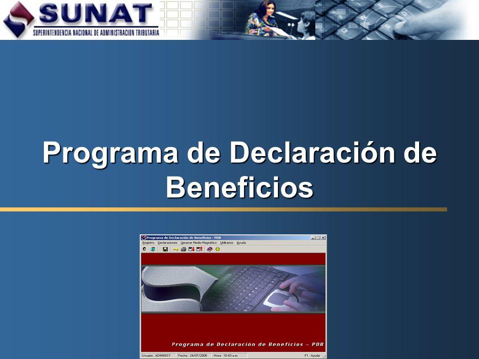 Programa de Declaración de Beneficios