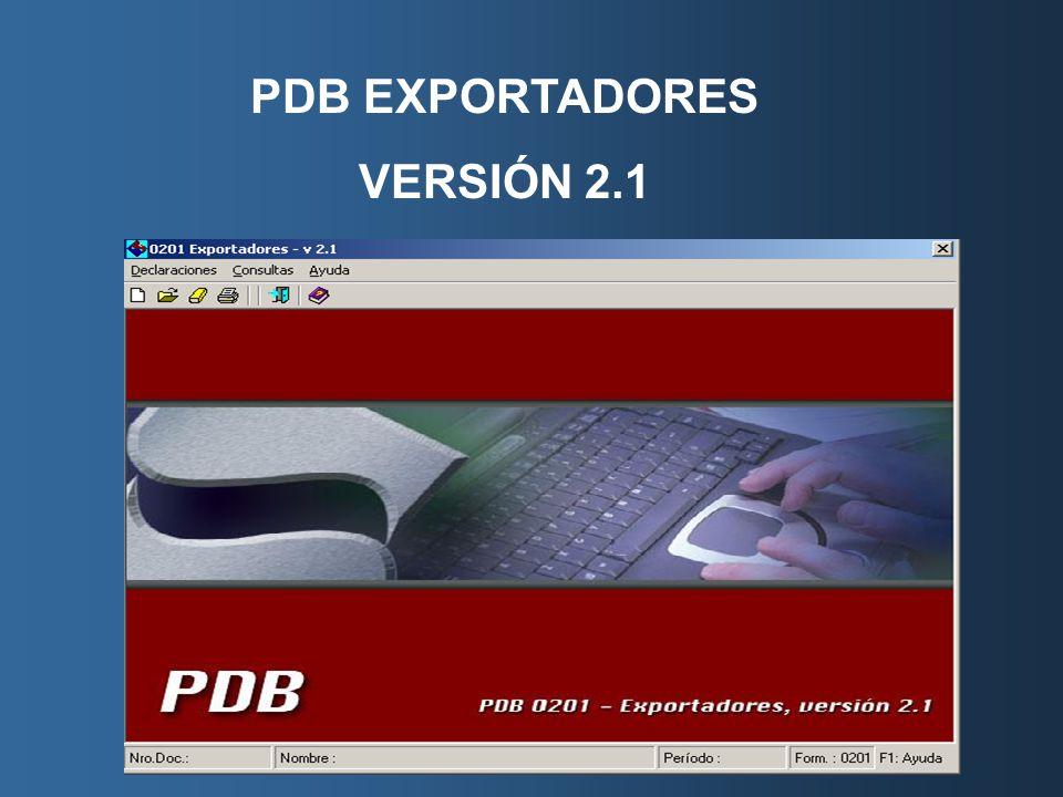 PDB EXPORTADORES VERSIÓN 2.1