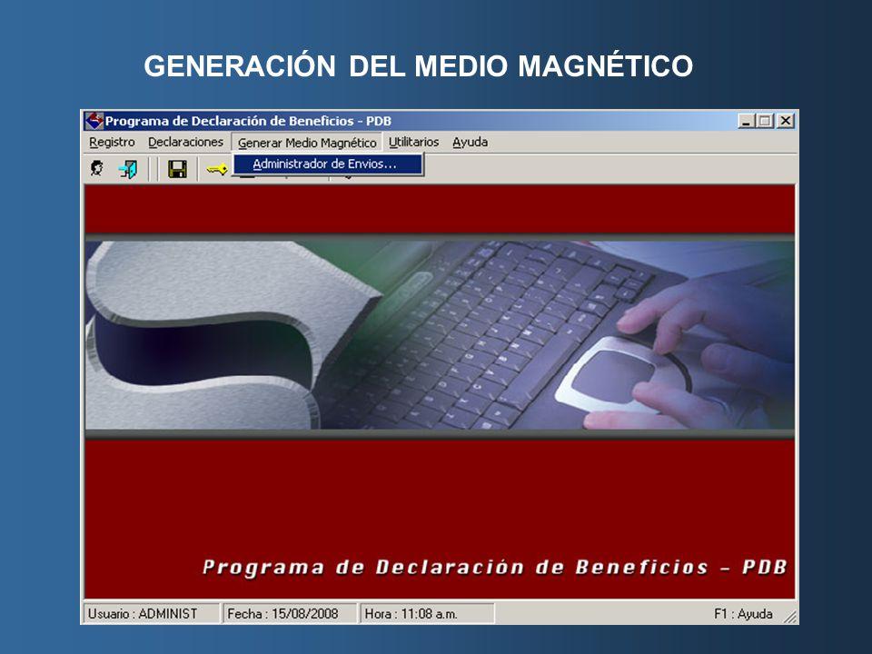 GENERACIÓN DEL MEDIO MAGNÉTICO