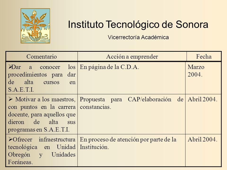  Dar a conocer los procedimientos para dar de alta cursos en S.A.E.T.I.