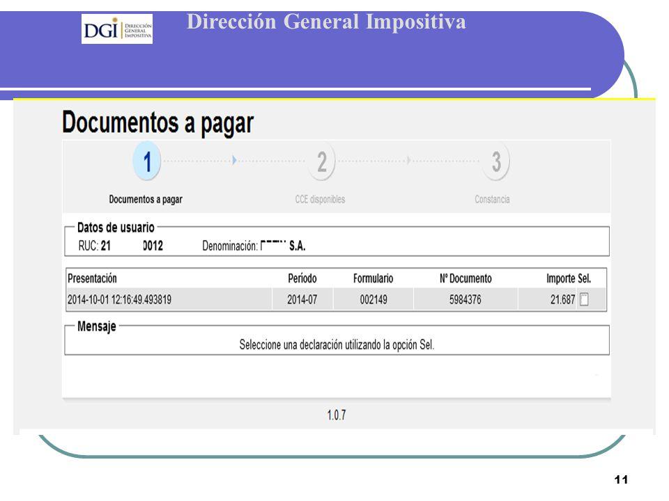Dirección General Impositiva 11