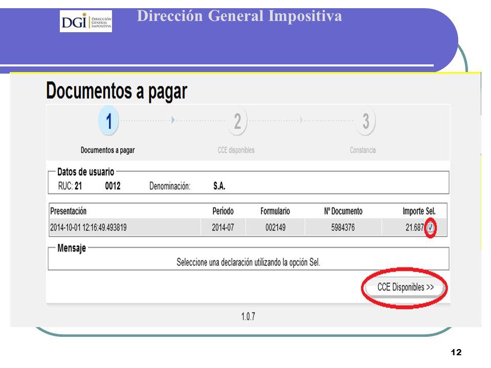 Dirección General Impositiva 12