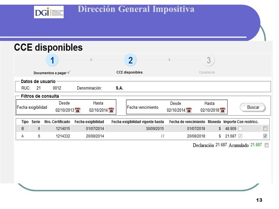 Dirección General Impositiva 13