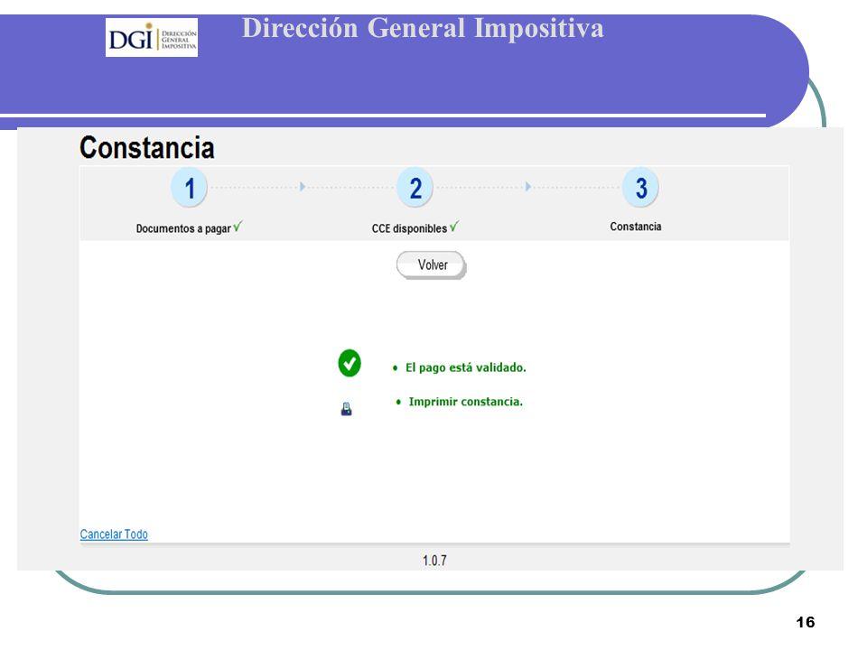 Dirección General Impositiva 16