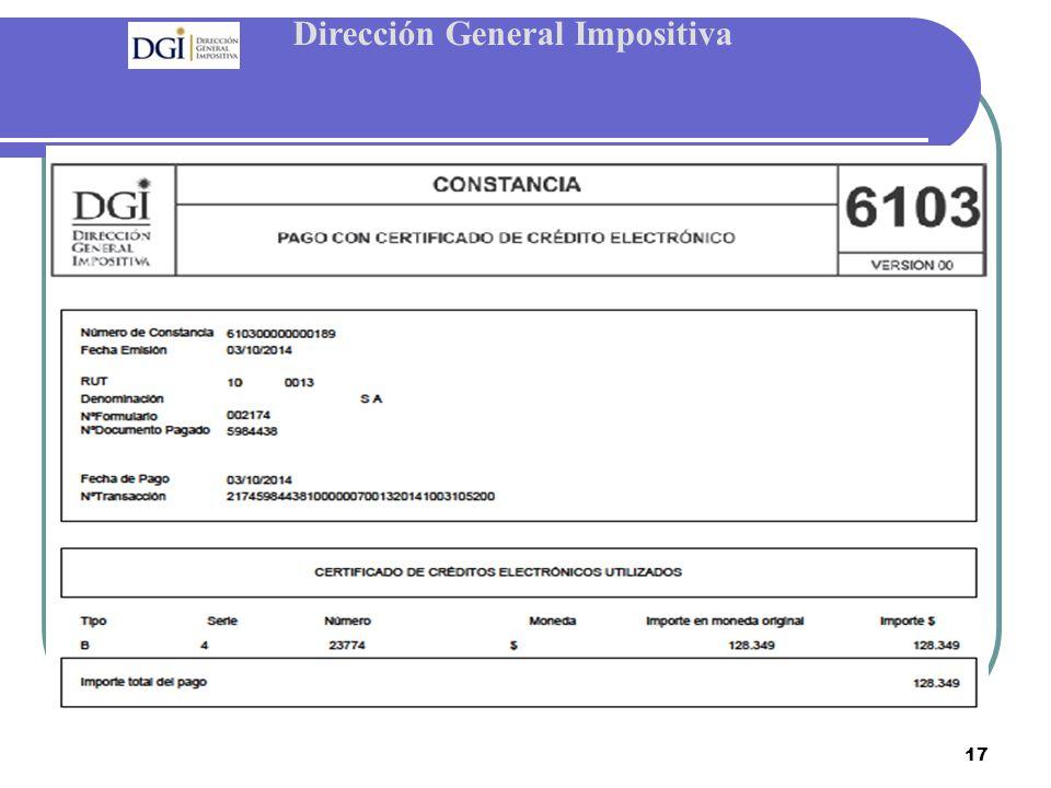 Dirección General Impositiva 17