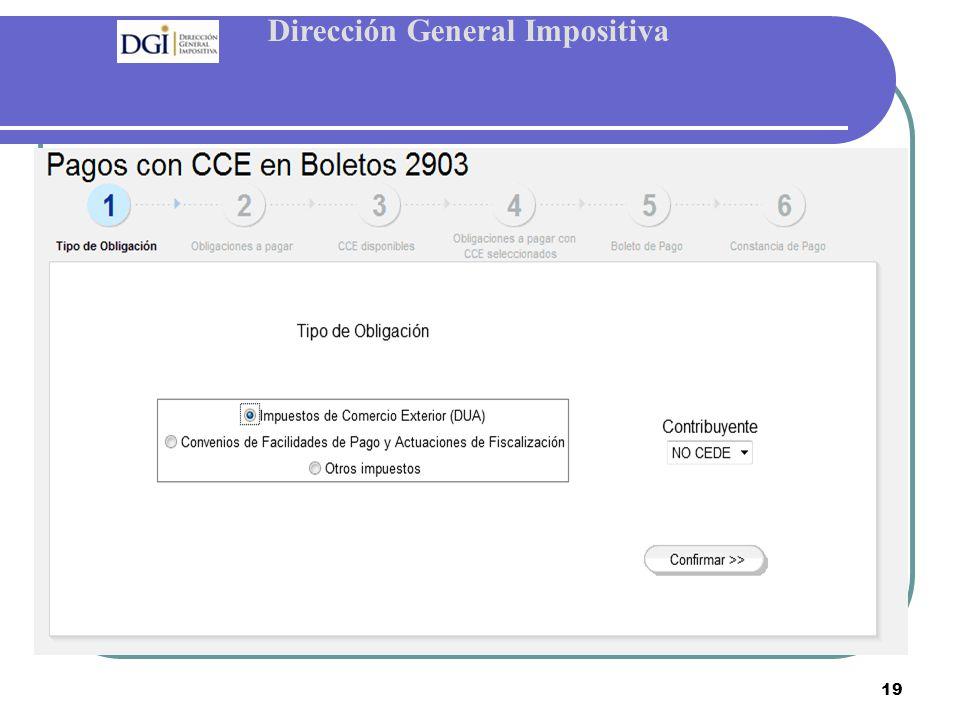 Dirección General Impositiva 19