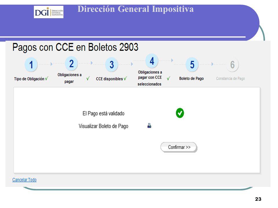 Dirección General Impositiva 23