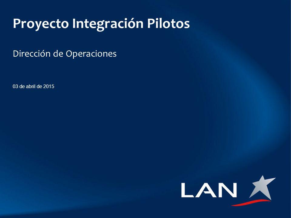 Proyecto Integración Pilotos Dirección de Operaciones 03 de abril de 2015