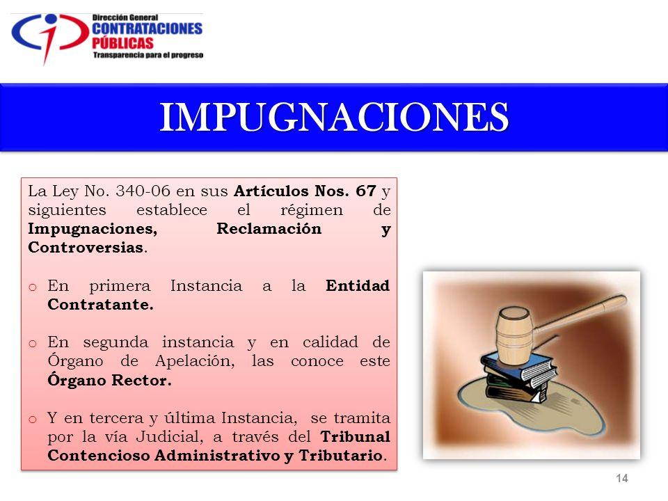 La Ley No. 340-06 en sus Artículos Nos.