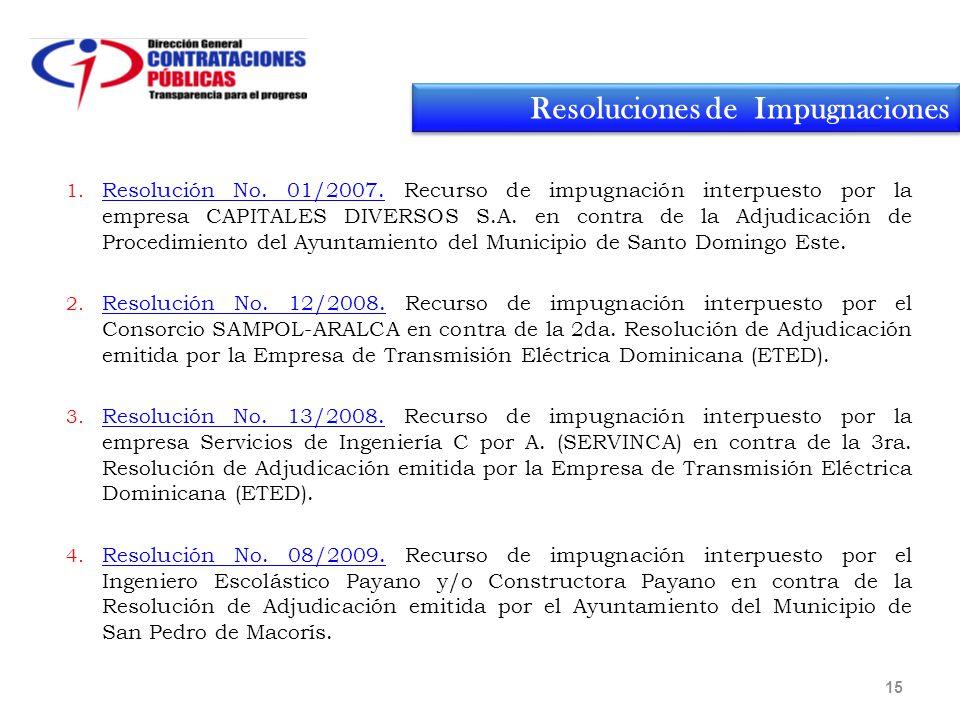 1. Resolución No. 01/2007.