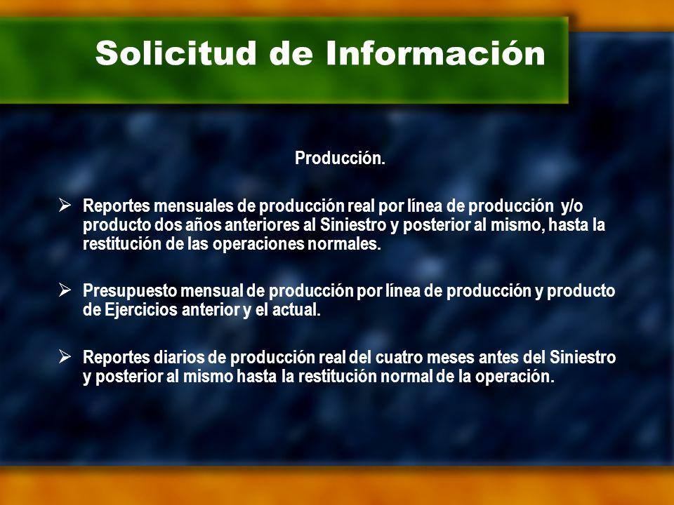 Solicitud de Información Producción.