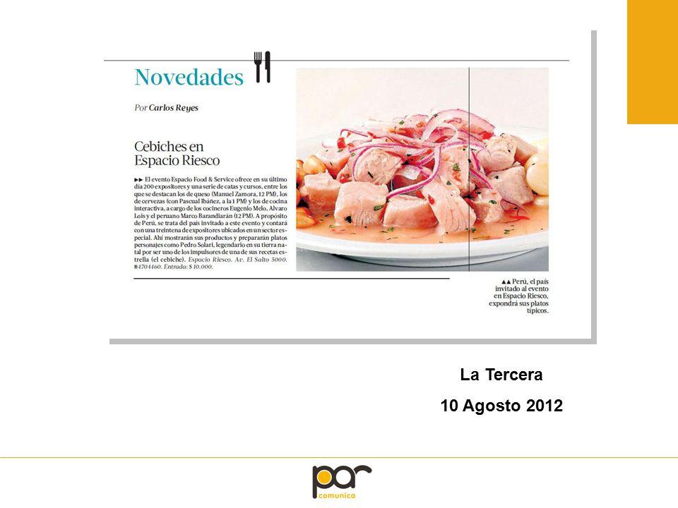 La Tercera 10 Agosto 2012