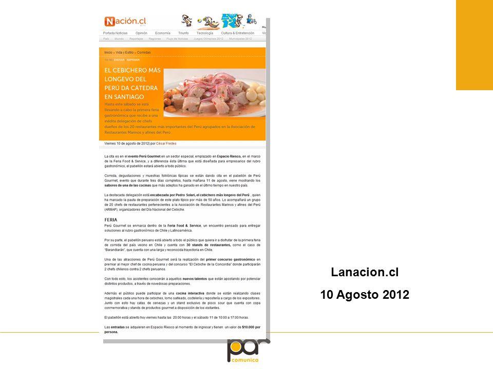Lanacion.cl 10 Agosto 2012