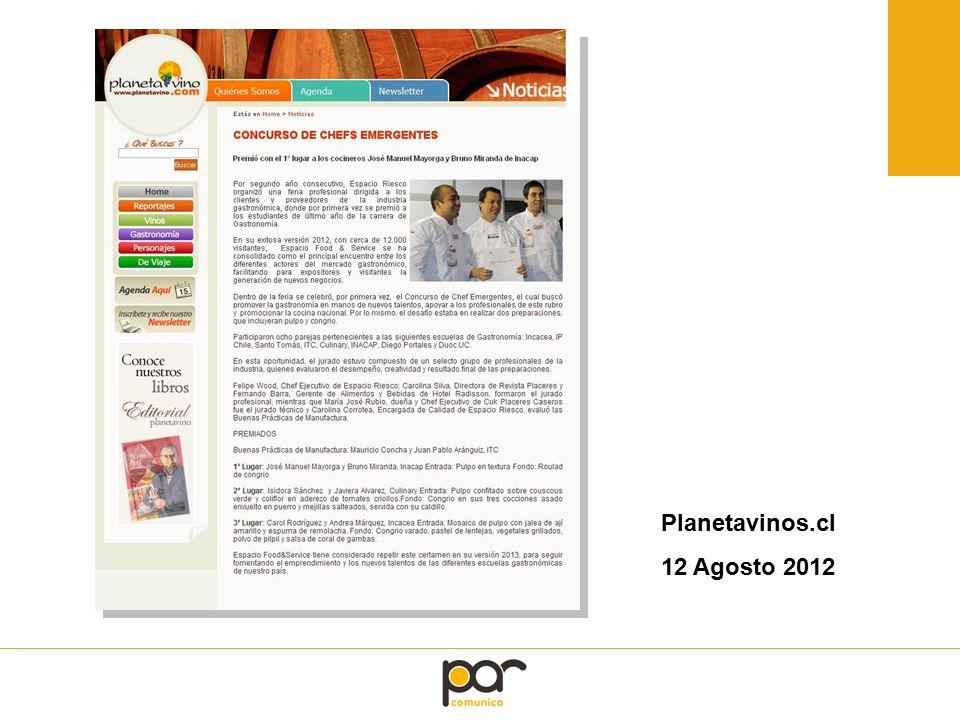 Planetavinos.cl 12 Agosto 2012