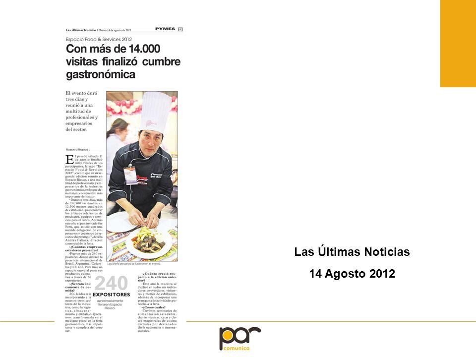 Las Últimas Noticias 14 Agosto 2012