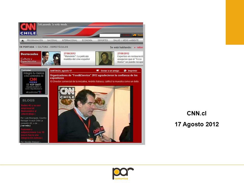 CNN.cl 17 Agosto 2012