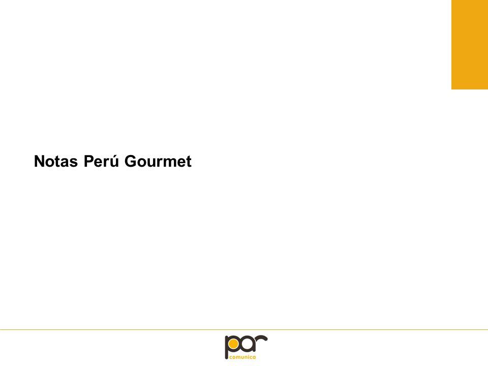 Notas Perú Gourmet