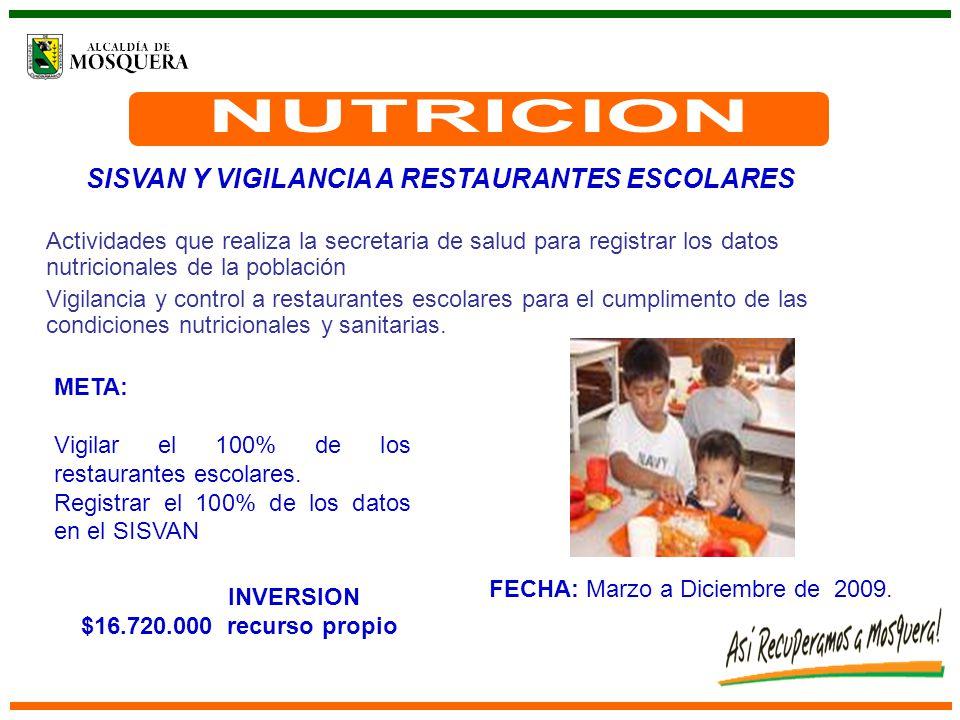 FECHA: Marzo a Diciembre de 2009.