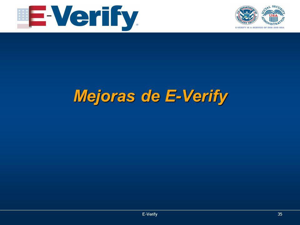 Mejoras de E-Verify E-Verify35