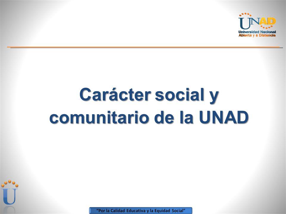 Carácter social y comunitario de la UNAD