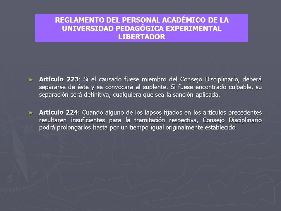 ► Artículo 220: Mientras su caso esté en proceso de apelación, el afectado se someterá a la decisión que le haya sido acordada por la instancia respectiva.