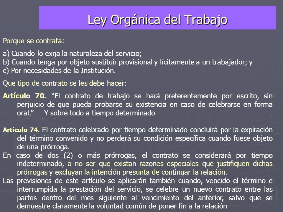 PERSONAL CONTRATADO ► Personal Docente Tutores Personal Administrativo Personal Obrero Fines de Semana