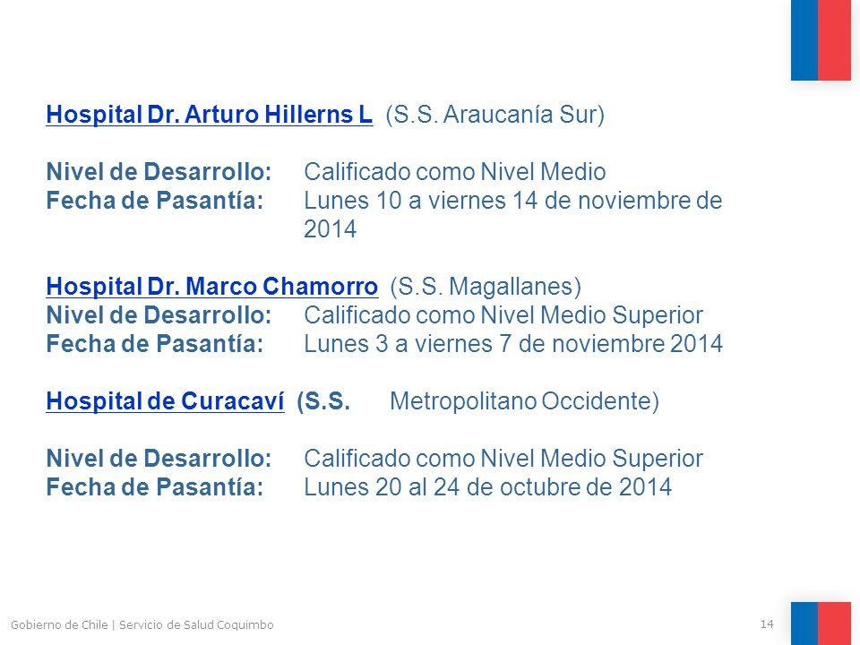 14 Gobierno de Chile | Servicio de Salud Coquimbo Hospital Dr.