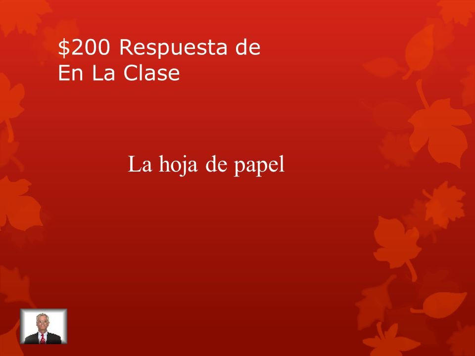 $200 Pregunta de En La Clase Sheet of paper (in Spanish).
